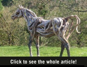 driftwood horses by Heather Jansch...so beautiful and cool!