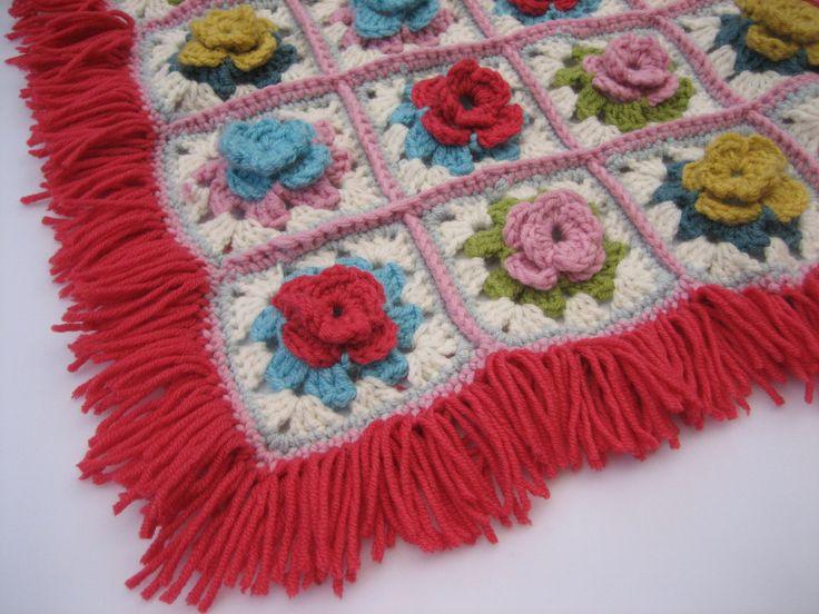 Small flowery rug