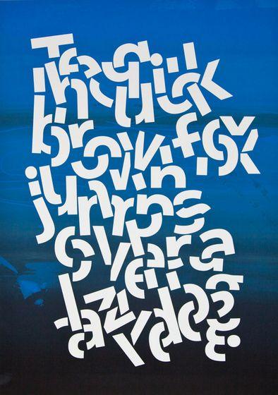 Chopped + jumbled typography // Alex Trochut