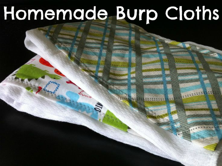 Customize Burp Cloths with Scrap Material - Blissfully Domestic