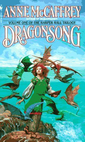 DragonSong by Anne McCaffrey, the first of her Dragonriders of Pern books I ever read and still a favorite. The Harper Hall Trilogy still resonates most with me, of all her books. :)