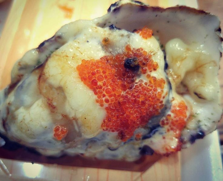 Aburi Rock Oyster with Cheese and Fish Roe (3/$10)