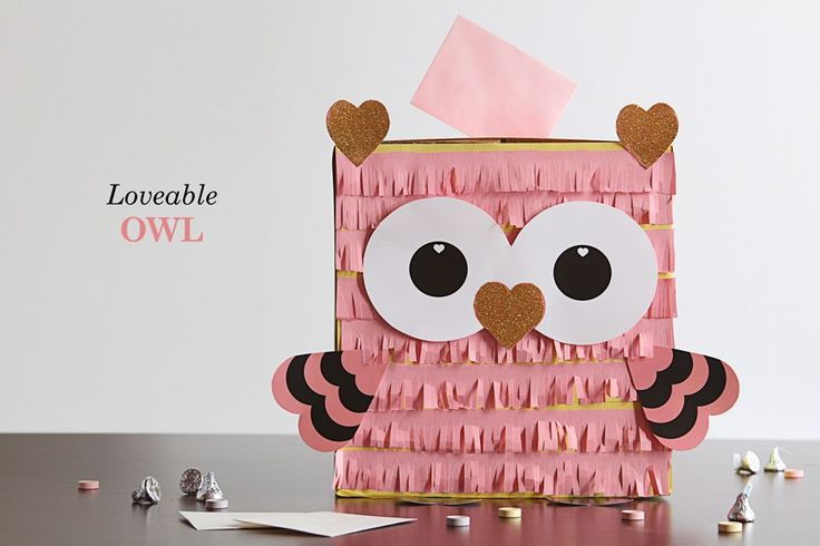 Make a DIY Valentine's Day box to hold your Valentines - here's a Lovable Owl