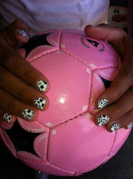 Jamberry Nails has a design for all interests including sports. Soccer balls for the soccer player etc... ##soccer, sport, nail art, fashion, shoe, dress, Jamberry,