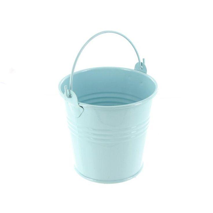 Hobbycraft 8 Cm Metal Bucket In Pale Blue | Hobbycraft