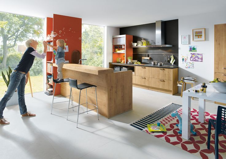 It's Mother's Day on Sunday. Remember it's not just what you eat but who you eat it with | Schuller Kitchens | Bari Natural Knotty Oak Kitchen Cupboards