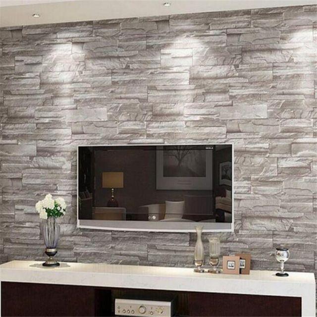 Retro En Relief Papier Peint Brique Mur Volume Moderne Blanc 3d