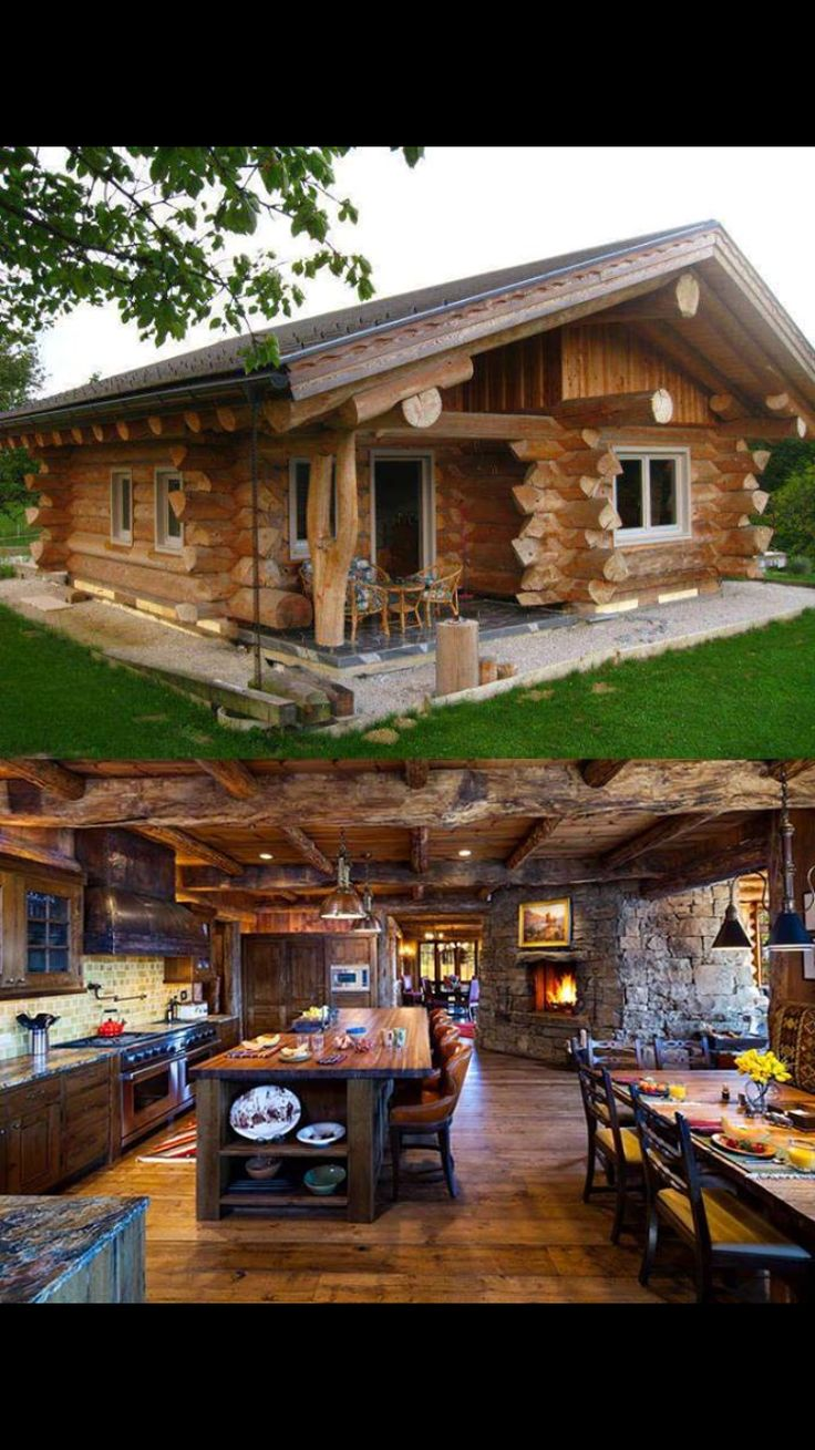 Log home | great room | fire place