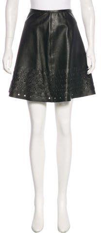 Sachin + Babi Leather A-Line Skirt