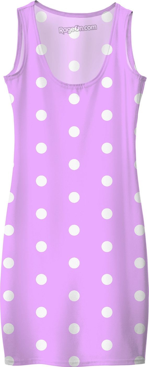 White polka dots on purple, violet, circles, points themed vintage pattern dress. Item printed by RageOn.com Production Time: 7-10 business daysShipping:USA: 4-10 business ...