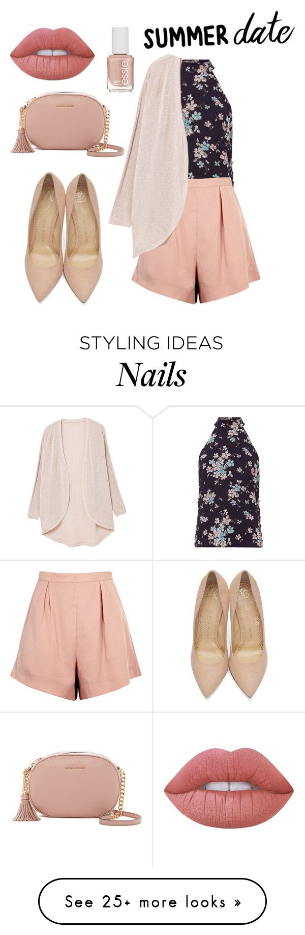 """Untitled #231"" by adzea on Polyvore featuring Exclusive for Intermix, Finders Keepers, MANGO, Charlotte Olympia, MICHAEL Michael Kors, Lime Crime and Essie"