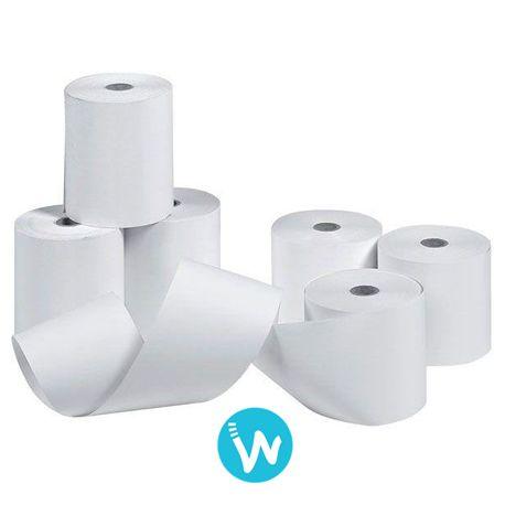 Carton de 50 bobines de papier thermique simple pli 76 X 70. Découvrez tous les produits pour votre système d'encaissement sur www.waapos.com