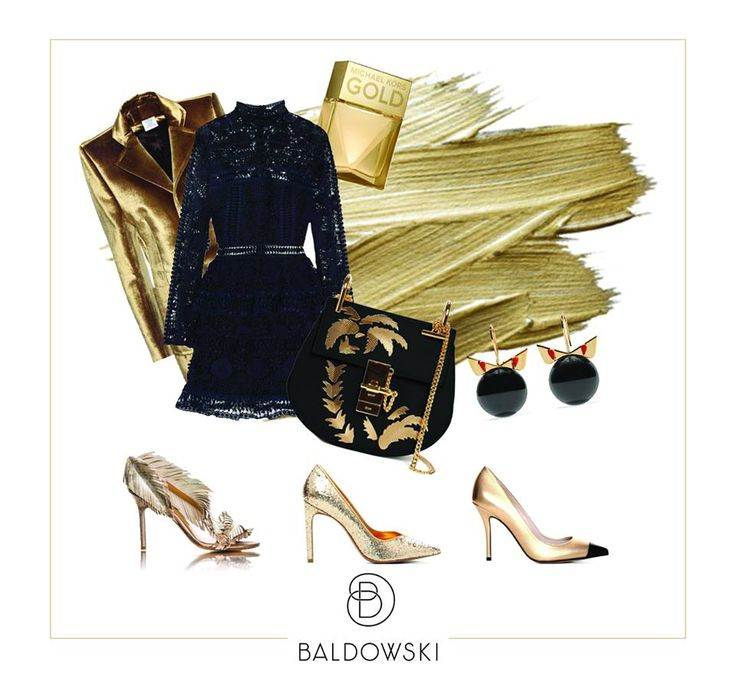 Get inspired by Baldowski #party #look #shoes #gold #madeofgold #velvet #ootd #inspiration