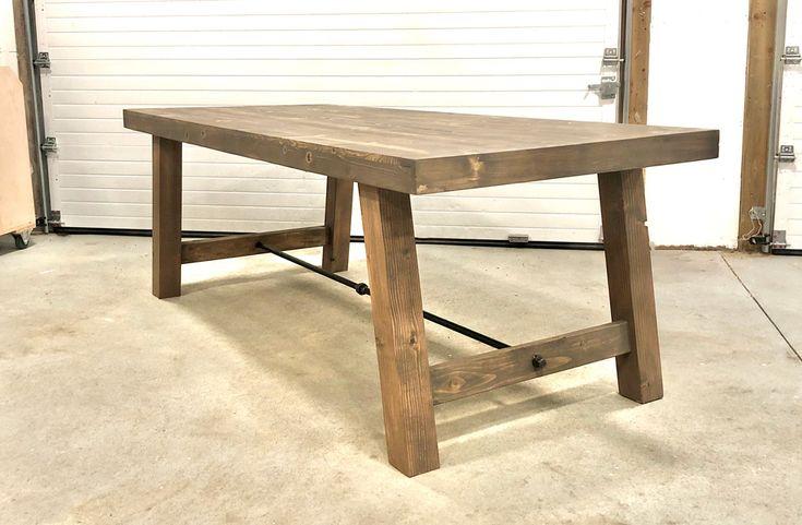 4x4 Leg Industrial Farmhouse Table Industrial Farmhouse Table