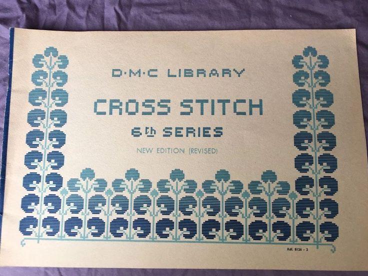 Vintage DMC Series 6 Cross Stitch Book Edging Oriental Asian Tablecloth Designs