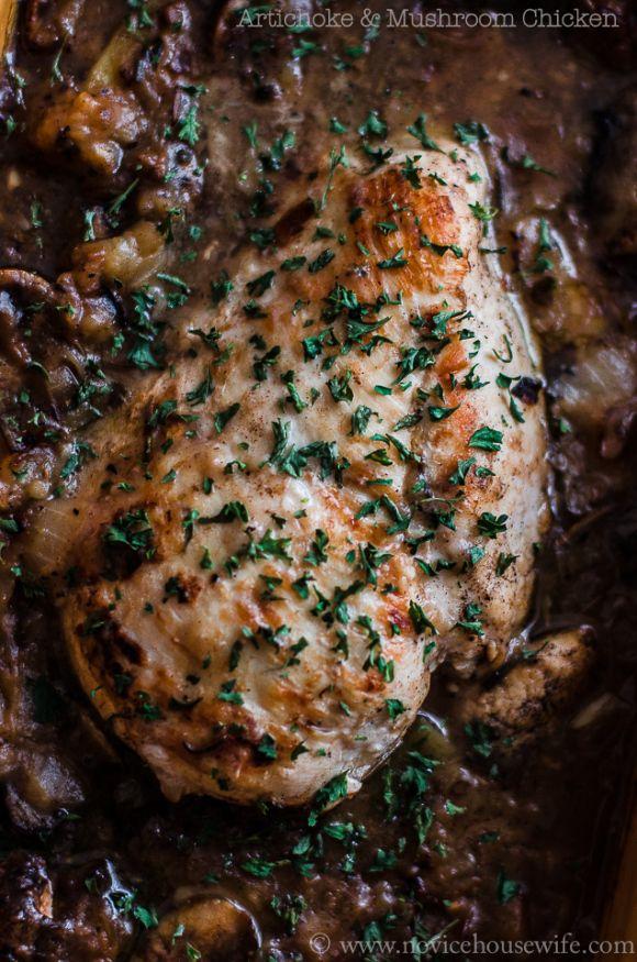Artichoke Chicken | chicken delights | Pinterest