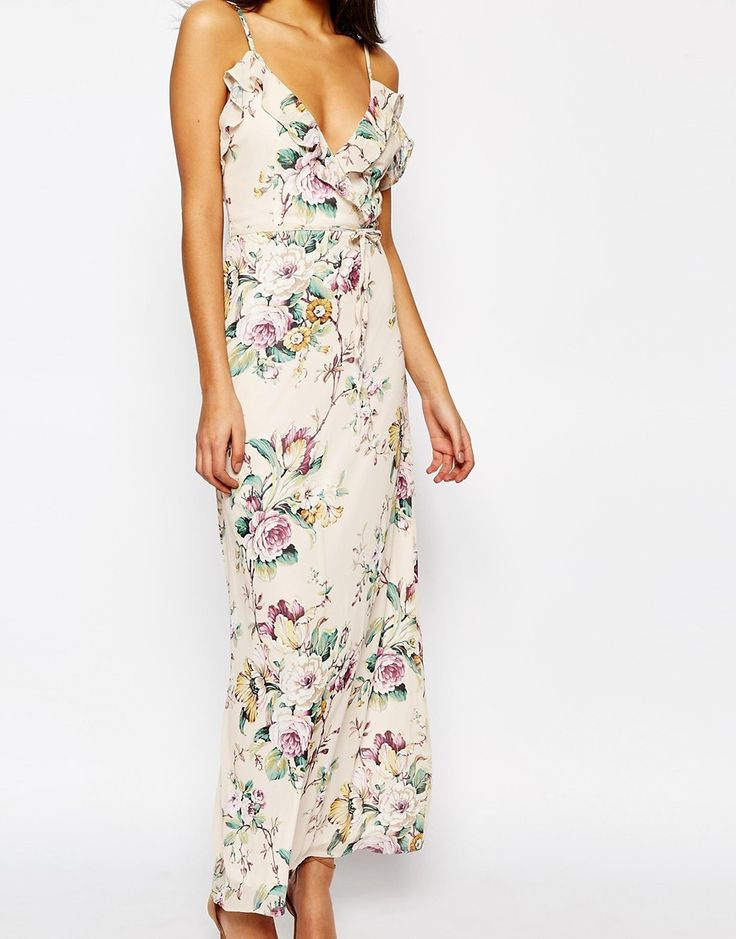 Image 3 of Oh My Love Maxi with Frill in Spring Blossom