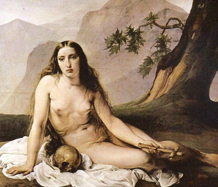 F. HAYEZ, Maddalena penitente, ante 1833, olio su tavola, cm.152 x 120, Milano, Pinacoteca di Brera