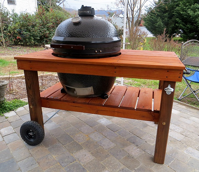 Man Cave Meals Is Ready To Roll With A #grill, A Custom Table Stained
