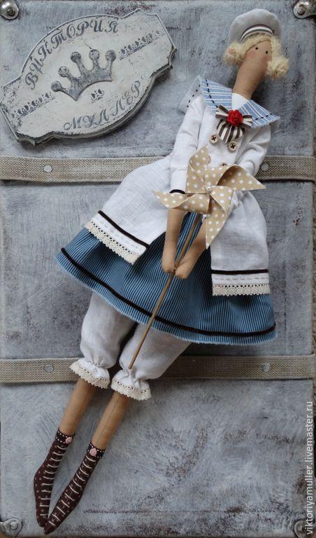Купить кукла тильда ручной работы КУКОЛКА - серый, кукла ручной работы, кукла Тильда