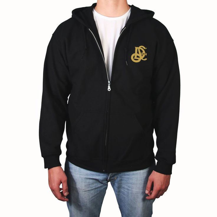 LD West® Full Zip Hoodie - Black w/ Gold embroidry - LD West
