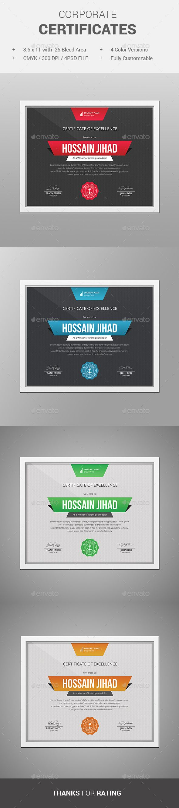 25 best ideas about certificate of completion template on