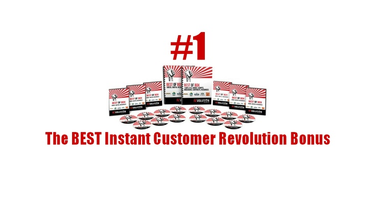 This is definitely the BEST Instant Customer Revolution BONUS PACK because it complements Mike Koenigs's program in the best possible way plus...