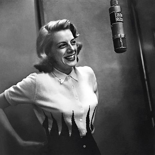 Rosemary Clooney - popular light jazz singer of the forties and fifties. (photo by Herman Leonard.)