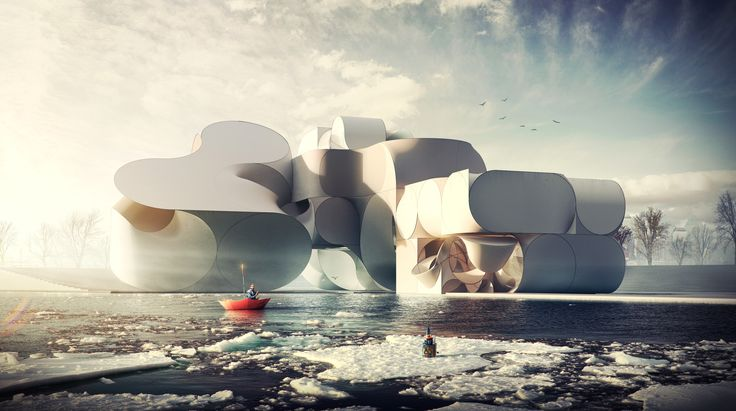 A team of students from Austrian-based Studio Hani Rashid at the University of Applied Arts in Vienna have unveiled their conceptual design for a Cirque du Soleil Performance Center in Brooklyn, New York.