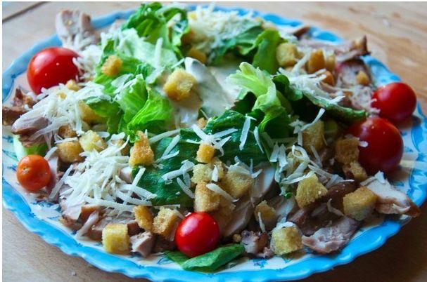 Chicken salad with «Caesar»