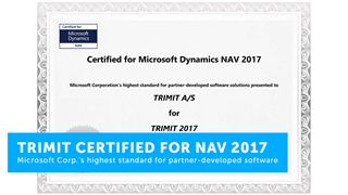TRIMIT ERP & E-commerce software solution for fashion, furniture & product configuration is now certified for Microsoft Dynamics NAV 2017