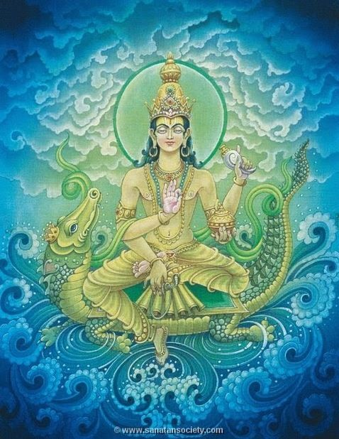VARUNA is the Hindu god of the water and of the celestial ocean, as well as a god of the underwater world