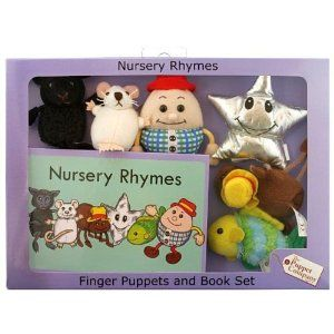 Nursery rhymes book with puppets, The Puppet Company