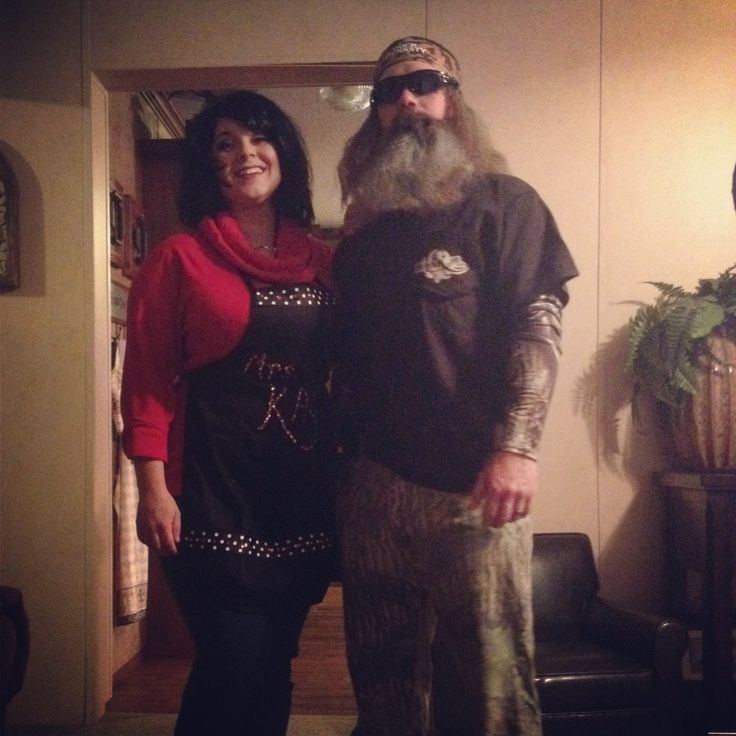 couples halloween costume idea duck dynasty ms kay and phil robertson - Jase Robertson Halloween Costume