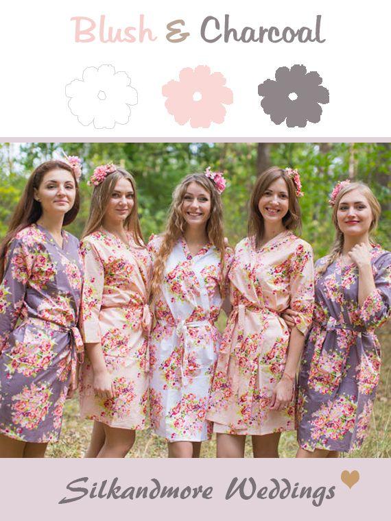 Robes by silkandmore - Blush