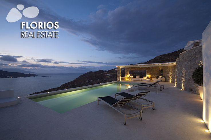 Luxurious Villa for Sale with extraordinary sea view, in Ftelia, Mykonos island, Greece. FL1467  http://www.florios.gr/en/mykonos-property/24.html