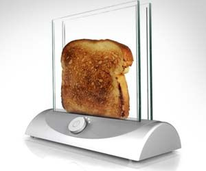 Transparent Glass Toaster - *want*