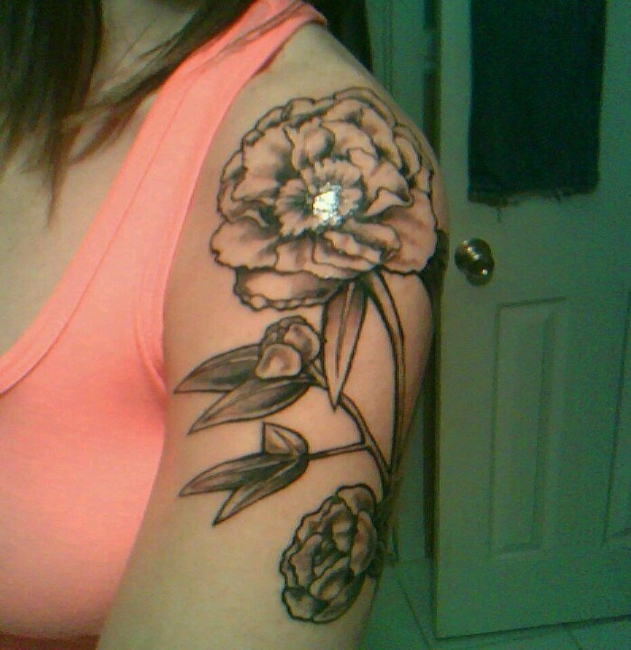 1000 Ideas About Peonies Tattoo On Pinterest: New Peony Shoulder Tattoo :)