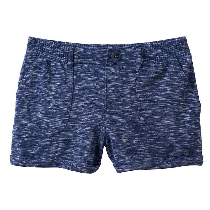 Girls 7-16 SO® French Terry Slubbed Soft Shorts, Girl's, Size: 16, Blue