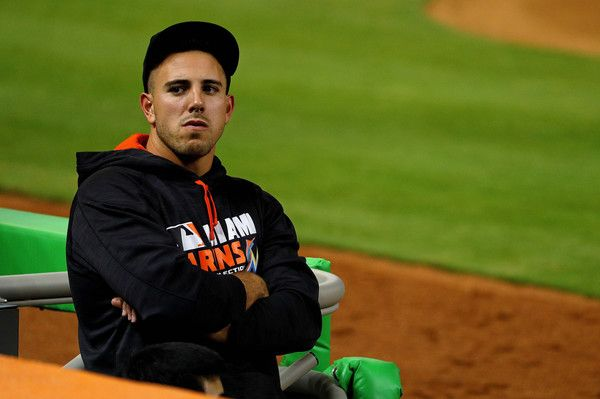 Jose Fernandez Photos - Jose Fernandez #16 of the Miami Marlins looks on during a game against the Washington Nationals at Marlins Park on April 19, 2016 in Miami, Florida. - Washington Nationals v Miami Marlins