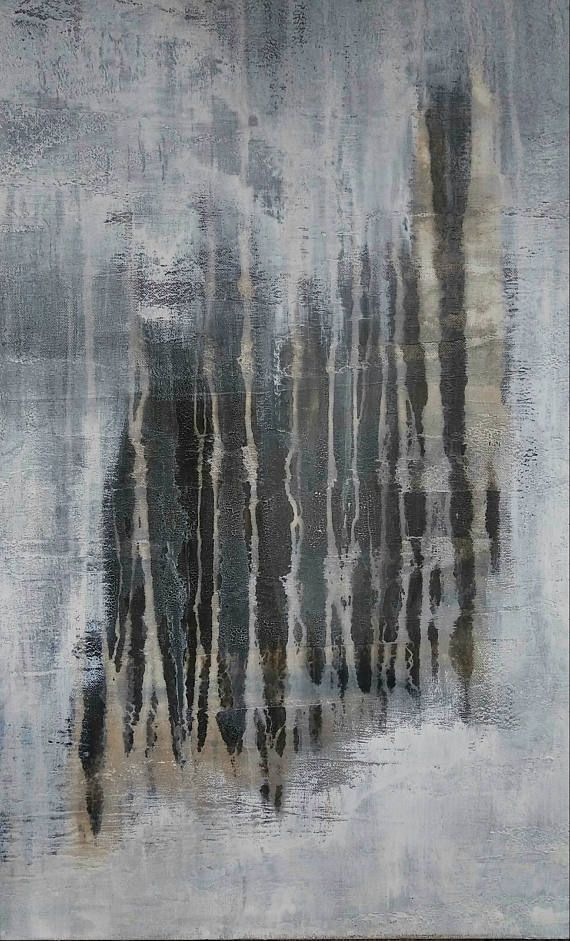 Minimalist White Abstract Painting 24 x 30 Modern Neutral