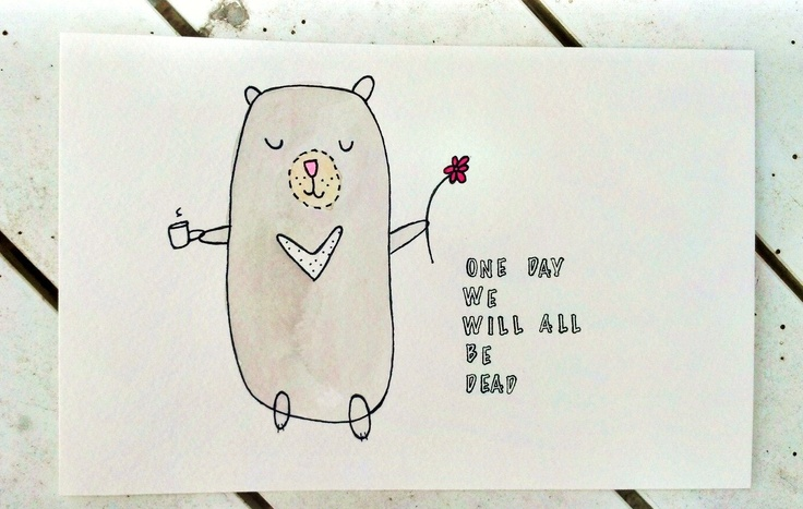 Happy thoughts bear Original illustration by yourhandwriting