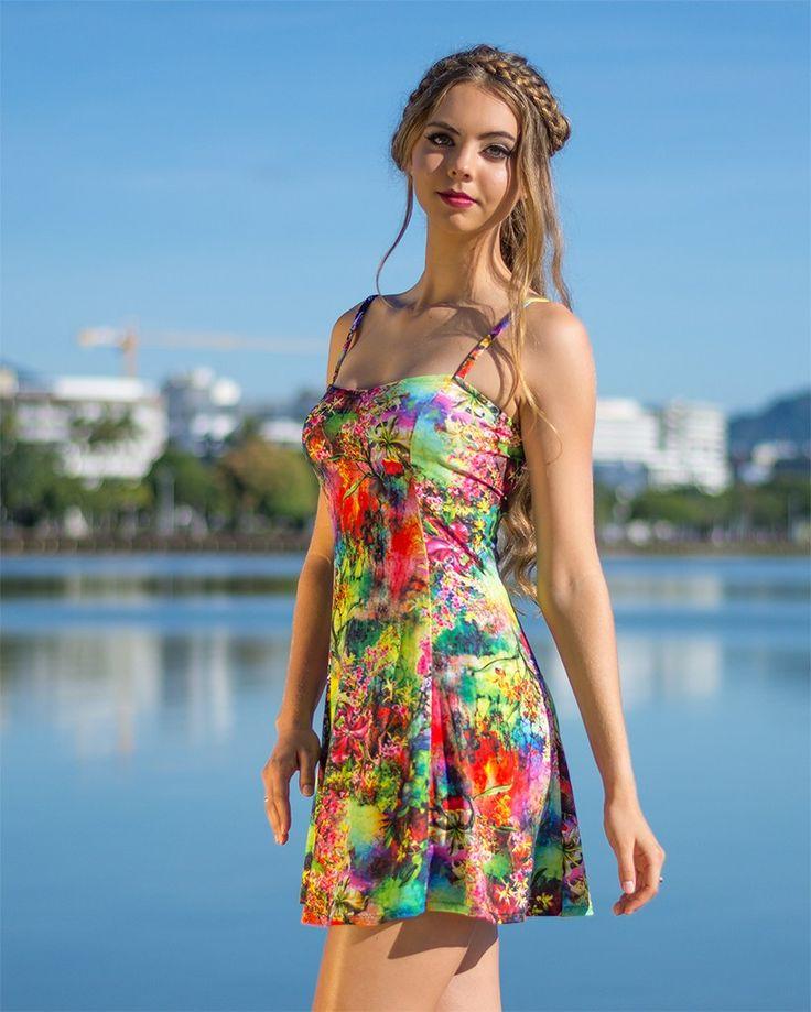 Sweet Havana Flared Dress in Tropical Cairns