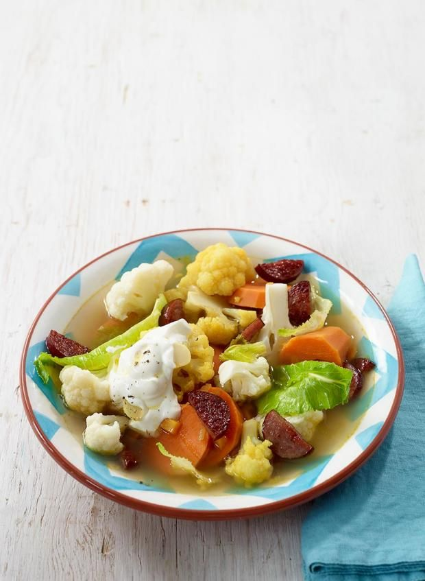 Süßkartoffel-Blumenkohl-Eintopf