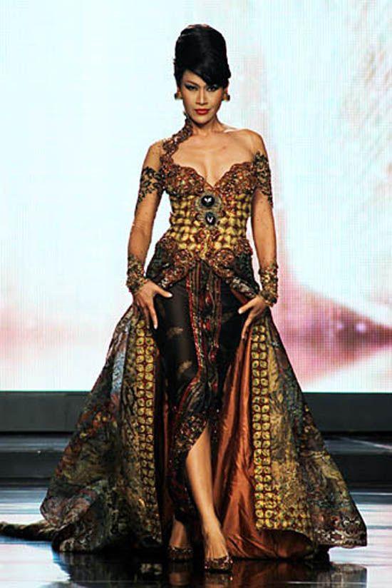 Model Dan Desain Gaun Pesta Batik Model Baju Pinterest