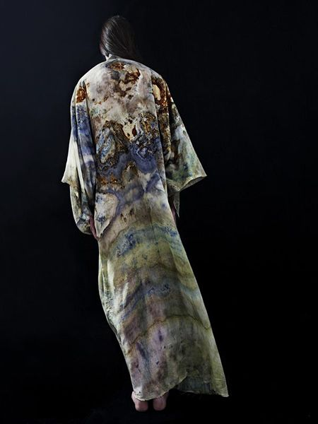 ALICE FINE DECAY Organic/Plantdyed/Handmade/Silk Kimono