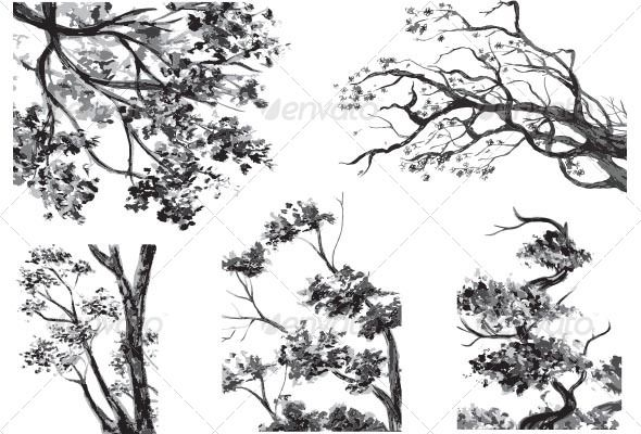 Realistic Graphic DOWNLOAD (.ai, .psd) :: http://jquery-css.de/pinterest-itmid-1006674501i.html ... Trees - Drawn Watercolor ...  animals, bark, branches, bush, dense, flower, forest, growth, leaves, nature, petal, pollen, spring, trees, trunk, unspoilt area, watercolor, wildlife, wind, woods  ... Realistic Photo Graphic Print Obejct Business Web Elements Illustration Design Templates ... DOWNLOAD :: http://jquery-css.de/pinterest-itmid-1006674501i.html