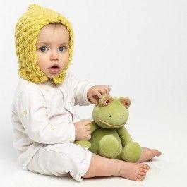 DIY Knitted Kids Bonnet Free Pattern
