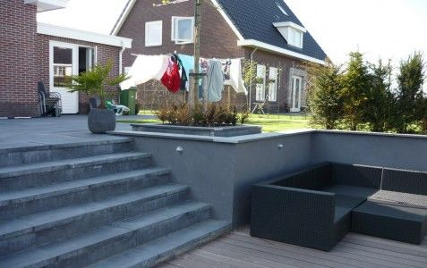 Tuin aan het water, gerealiseerd door allintuinen.nl