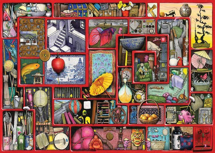 Colin Thompson The Red Box Legpuzzels, Kleurplaten